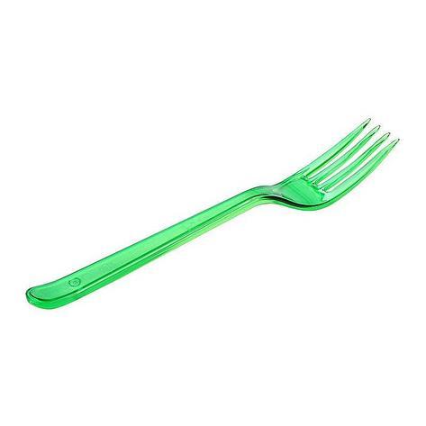 Вилка 180мм, зелён. (салат), кристалл, ПС, 900 шт, фото 2