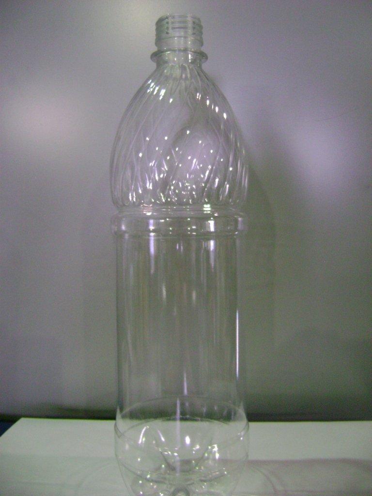 ПЭТ бутылка, прозрачн., 1 л, h 281 мм,  с крышкой, 70 шт
