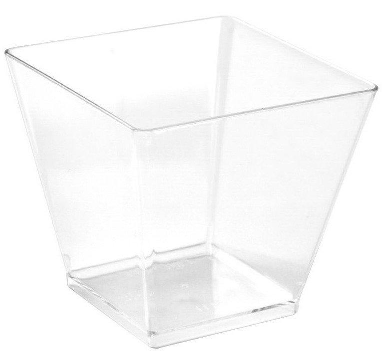 Форма д/фуршетов, 90мл, 55х56мм,, Rombo, прозрачн., ПС, 25 шт
