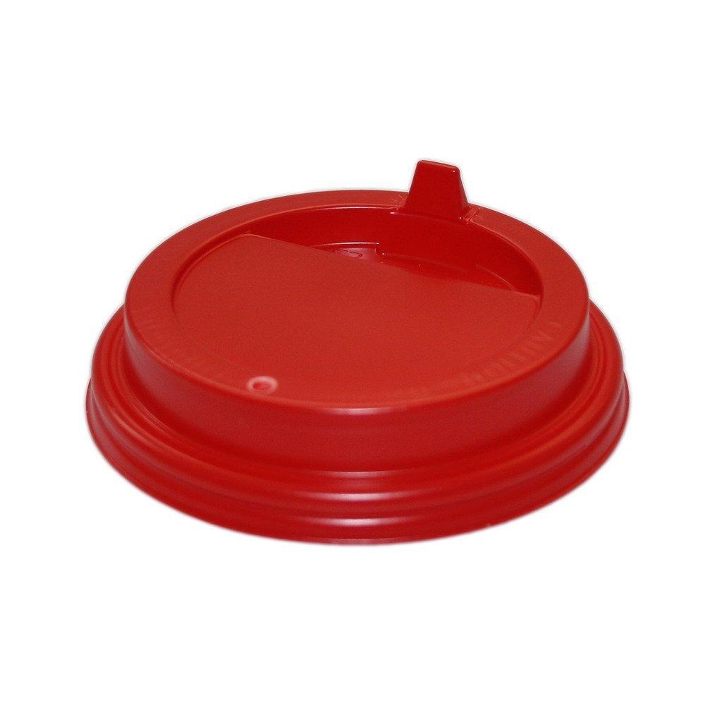 Крышка д/стаканов, д/хол./гор., d 80мм, красн., с клапаном, ПС, 1000 шт