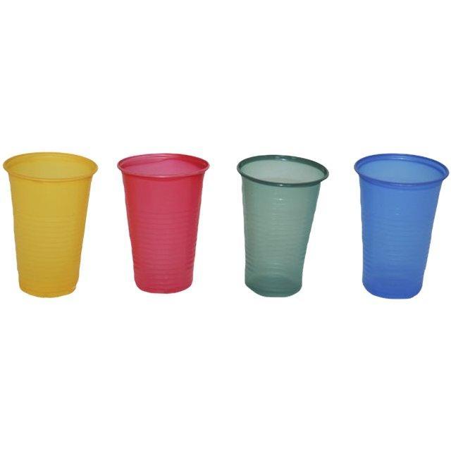 Стакан для холодных, горячих напитков, объем 0,20л, цвета в ассортименте, 12 шт