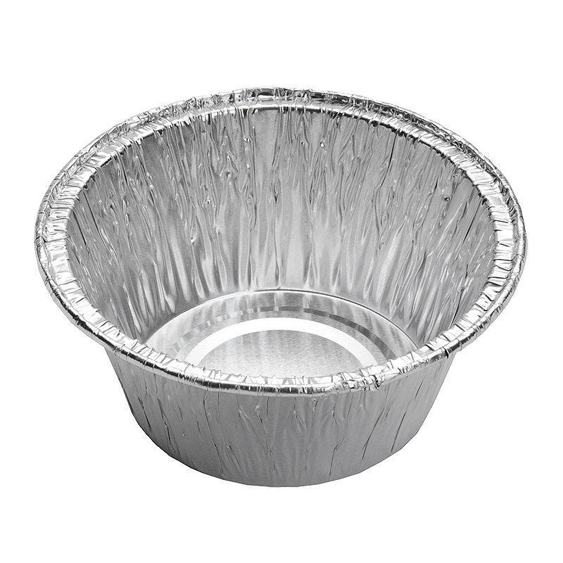 Касалетка круглая, d верхн.=86мм, d нижн.=55мм, h=35мм, объём 130г, алюмин.фольга, 2000 шт
