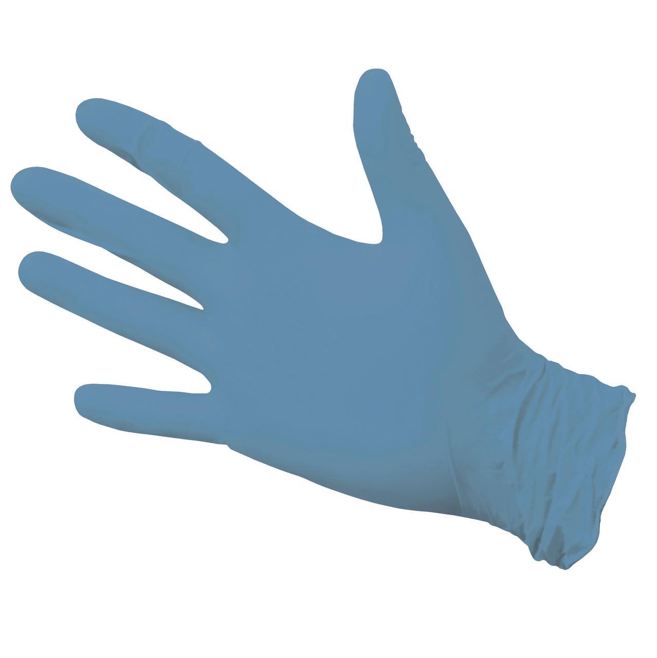 Перчатки нитриловые неопудр. NitriMax р-р L, голубые, 50 шт