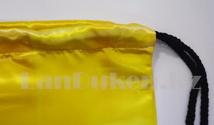 Мешок для обуви тканевый 42.5х34 миньоны - фото 2