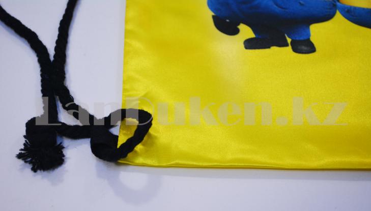 Мешок для обуви тканевый 42.5х34 миньоны - фото 3