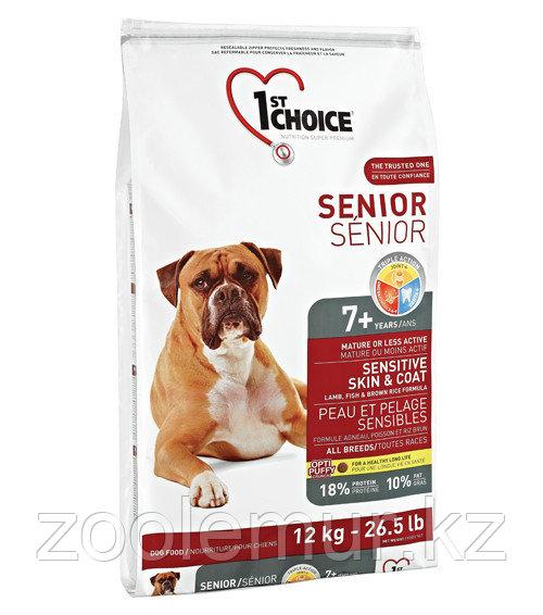1st Choice Adult гипоаллергенный сухой корм для пожилых собак (с ягнёнком, рыбой и рисом)  15 кг.