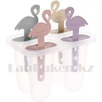 Формочки для мороженого пластиковые Фламинго 4 ячейки