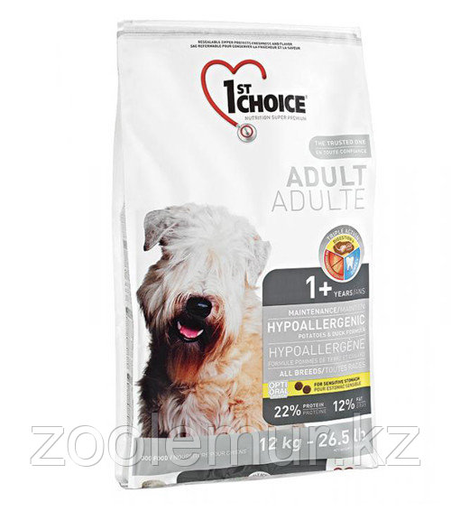 1st Choice Adult - корм для собак гипоаллергенный (утка с картофелем)  6 кг.