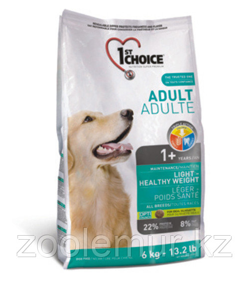 1st Choice - корм для собак с избыточным веса облегченный (курица) 6кг.