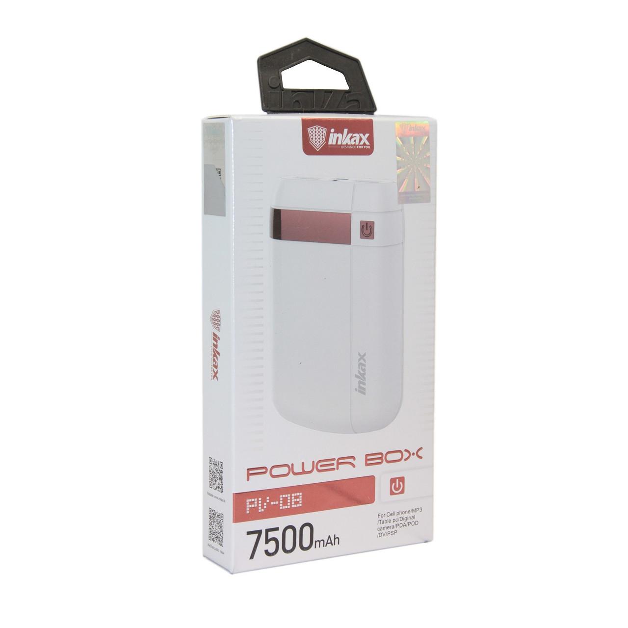 Внешний аккумулятор Power Bank Inkax PV-08 7500 Mah