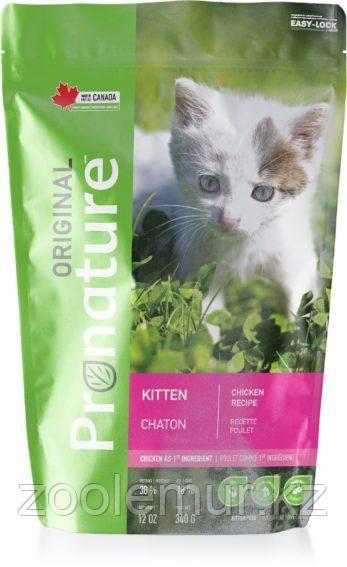 Pronature Original NEW сухой корм для котят на основе мяса курицы 340 гр