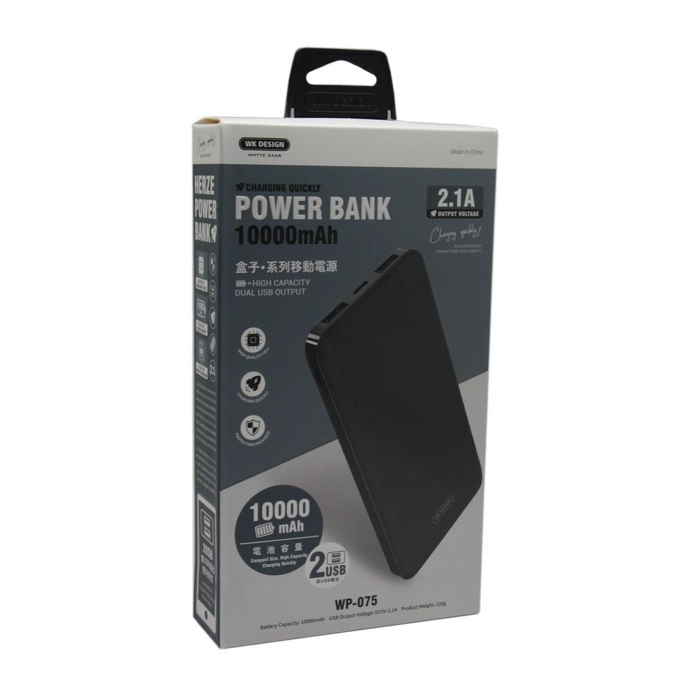 Внешний аккумулятор Power Bank WK WP-075 Herze Series 10000 Mah