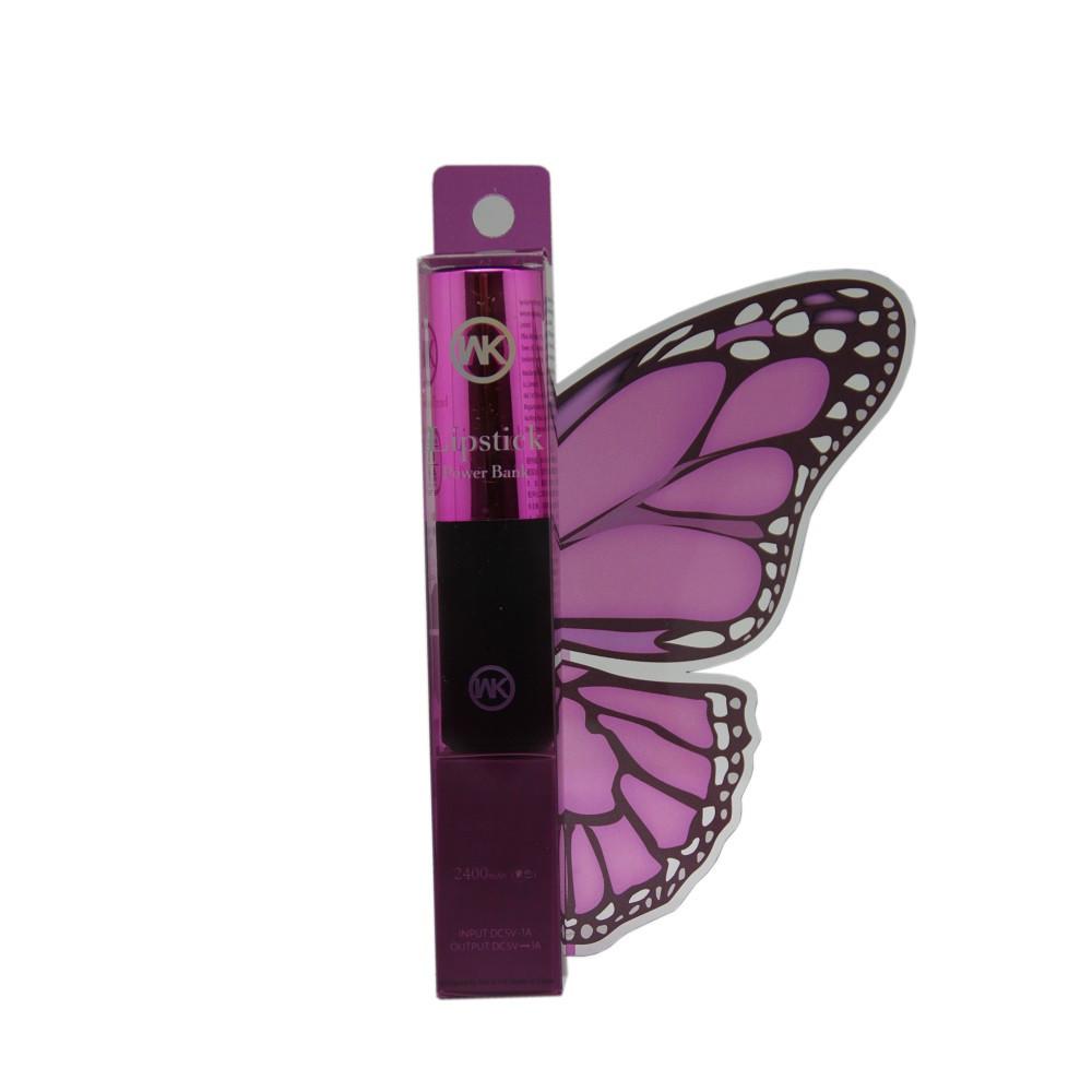 Внешний аккумулятор Power Bank WK WP004 Lipstick 2400 Mah Purple