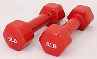 Гантели для фитнеса 8LB Red