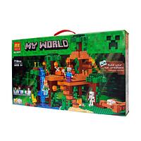 """Конструктор Bela My World (аналог Minecraft 21125 """"Домик на дереве в джунглях"""") 718 деталей"""