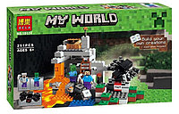 """Конструктор Bela My World (аналог 21113 Minecraft """"Пещера"""") 251 деталь"""