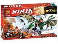"""Конструктор Bela аналог LEGO Ninjago 70593 """"Зелёный энерджи дракон Ллойда"""" 603 детали"""