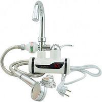 Проточный водонагреватель электрический на кран LCD бойлер с душем