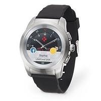 Смарт-часы MyKronoz ZeTime, Regular, Brushed Silver/Black Silicon