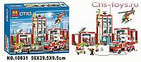 Конструктор BELA Cities Пожарная часть 10831 (Аналог LEGO City 60110) 958