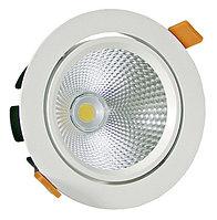 Мощный светодиодный встраиваемый поворотный светильник 32W