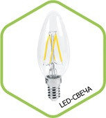 LED-СВЕЧА-PREMIUM 5.0Вт 160-260В Е27 4000К 450Лм прозрачная