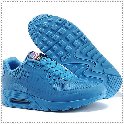 Кроссовки Nike Air Max 90 Hyperfuse синие, фото 2