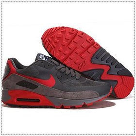 Кроссовки Nike Air Max 90 Hyperfuse серо-красные