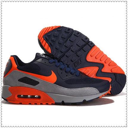 Кроссовки Nike Air Max 90 Hyperfuse PRM серо-черные, фото 2