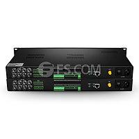 8-Канальный Однонаправленный HD-SDI Оптический Передатчик и Приемник Видео, 1 Передних Данных, Передних Аудио и 1000M Ethernet, FC, AC220V