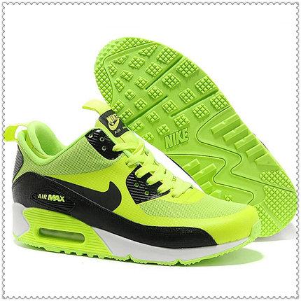 Кроссовки Nike Air Max 90 Hyperfuse черно-зеленые, фото 2