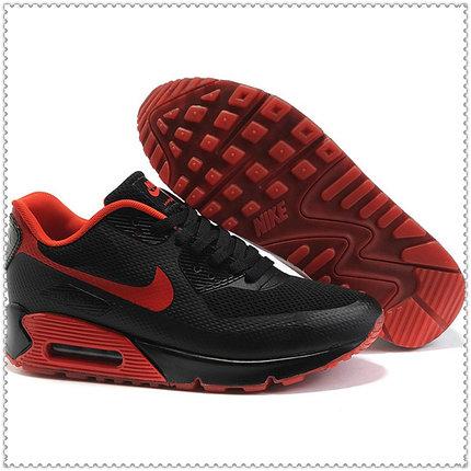 Кроссовки Nike Air Max 90 Hyperfuse черно-красные, фото 2