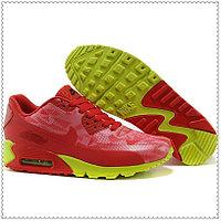 Кроссовки Nike Air Max 90 Hyperfuse красно-зеленые