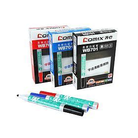 Маркер для досок 2.8 мм. Comix WB701, чёрный (упак./12 шт.,)