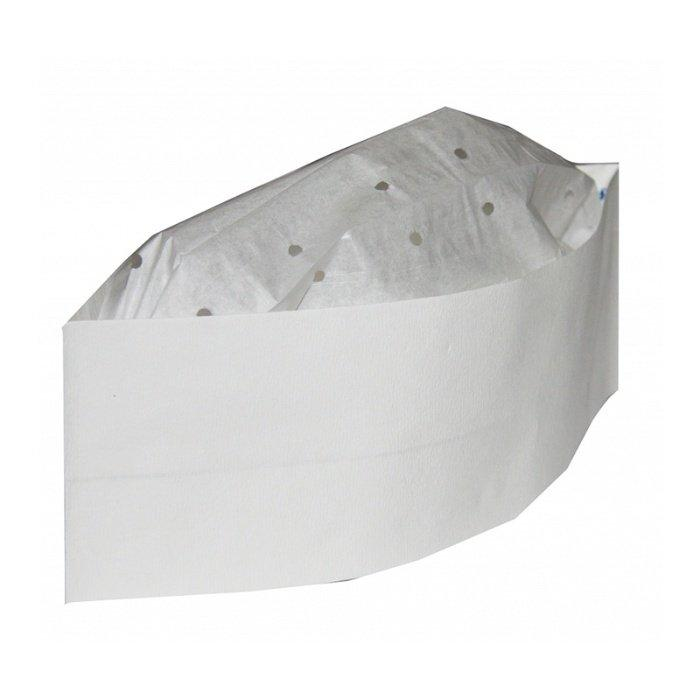 Пилотка  h=8,5 cм, L=28cм бумага белая, 100 шт