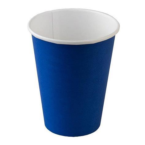 """Стакан д/хол./гор., 0.25л, верх. d 80мм нижн. d 56мм, h 92мм, 260+18г/м2, """"Reflex Blue"""", син., однослойный, картон, 1000 шт, фото 2"""