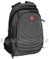 Городской мини рюкзак SWISSGEAR с USB портом и AUX выходом с ортопедической спинкой серый