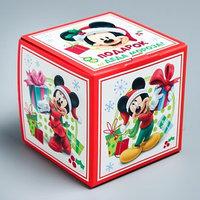 Подарочная коробка 'С Новым Годом!', Микки Маус и друзья, 9 х 9 х 9 см (комплект из 5 шт.)