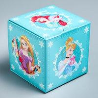 Подарочная коробка 'С Новым Годом!', Принцессы, 9 х 9 х 9 см (комплект из 5 шт.)