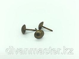 Гвозди декоративные 10 мм , бронза - 500 штук.Китай