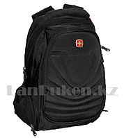 Городской мини рюкзак SWISSGEAR с USB портом и AUX выходом с ортопедической спинкой чёрный