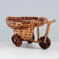 Сувенир 'Велосипед', 10x15x7 см, ива