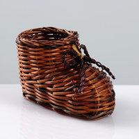 Сувенир 'Ботинок', 10x7 см, лоза