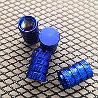 Колпачки на ниппель алюминиевые. Синий цилиндр