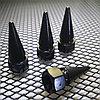 Колпачки на ниппель алюминиевые.Пики BLACK