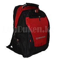 Городской рюкзак SWISSGEAR с дождевиком и USB портом бордовый 1522