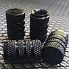 Колпачки на ниппель алюминиевые. Черный цилиндр