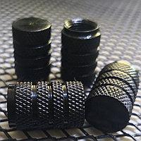 Колпачки на ниппель алюминиевые. Черный цилиндр, фото 1