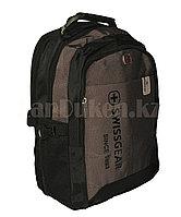 Городской рюкзак SWISSGEAR с дождевиком и USB портом коричневый 7232