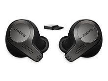 Jabra 6598-832-109 Гарнитура Bluetooth-вкладыши  Evolve 65t, Titanium Black, Link 370, MS